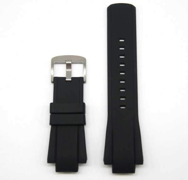 Original Ersatzarmband OFFICINA DEL TEMPO BGH2820SN für OT1028 Silikon schwarz