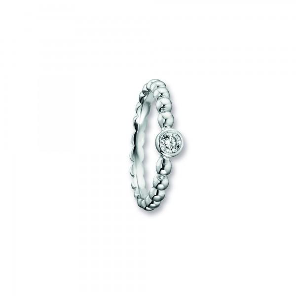 Ring Zirkonia 925 Silber rhodiniert Größe 53