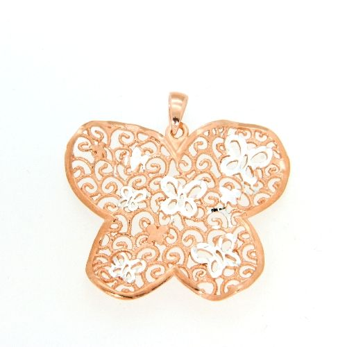 Anhänger Silber 925 rosé vergoldet Schmetterling