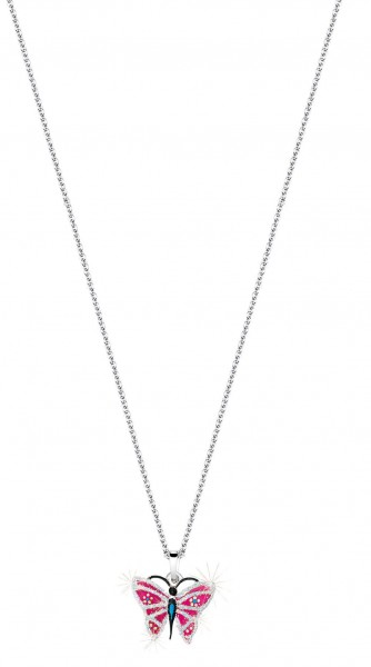 SCOUT Halskette silber, pink Schmetterlinge 261071200