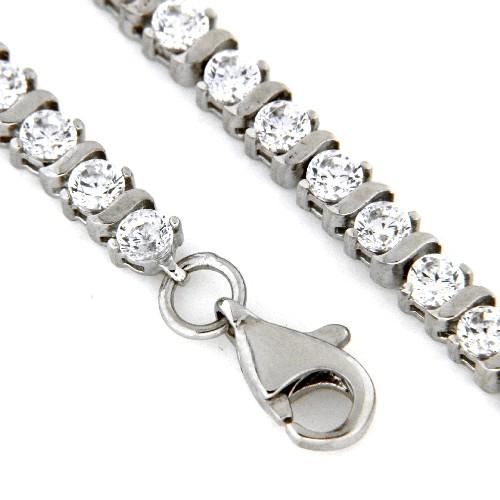 Armband Silber 925 rhodiniert 19 cm Tennisarmband