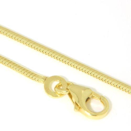 Schlangenkette Gold 333 1,2mm 8-kantig 42 cm