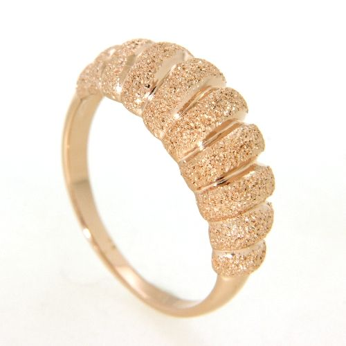 Ring Silber 925 rosé vergoldet Weite 58
