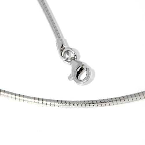 Halsreifen 42 cm Silber 925 rhod. 1,8 mm