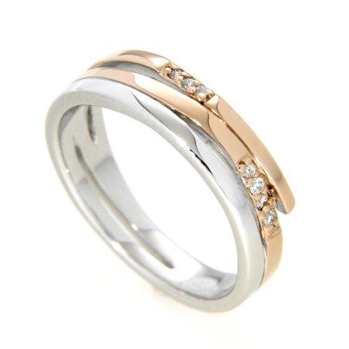 Ring Silber 925 rhodiniert rosé vergoldet Weite 58
