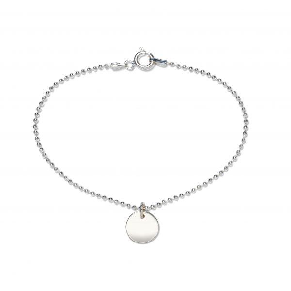 Beka&Bell Armband mit Plättchen gravierbar 17 cm silber