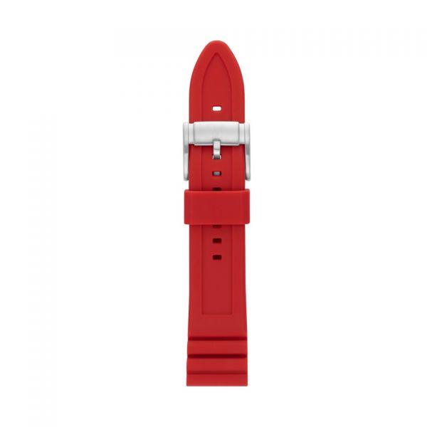 FOSSIL Uhrarmband Silikon rot S221318