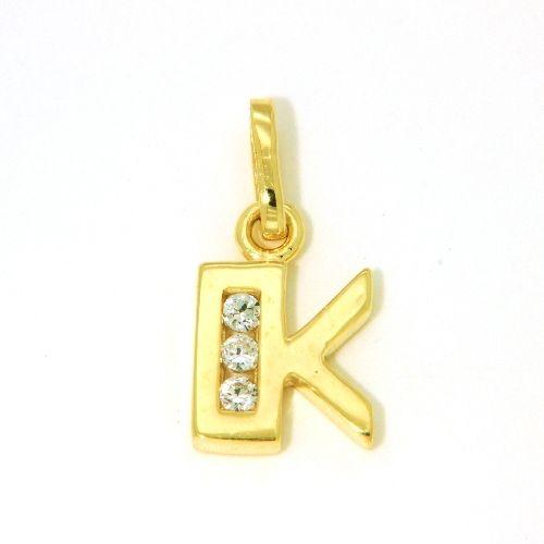Buchstaben-Anhänger K Gold 333