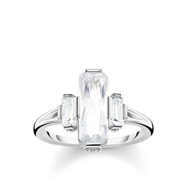 Thomas Sabo Ring weiße Steine Größe 48 TR2267-051-14-48