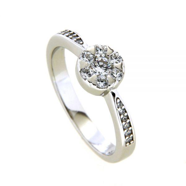 Ring Silber 925 rhodiniert Weite 50