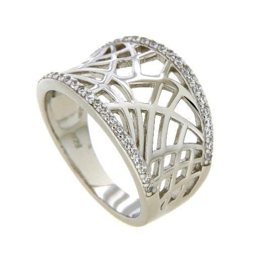 Ring Silber 925 rhodiniert Zirkonia Weite 66