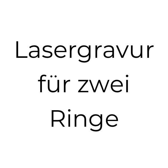 Lasergravur für 2 Titanringe (bis je 2 Wörter)