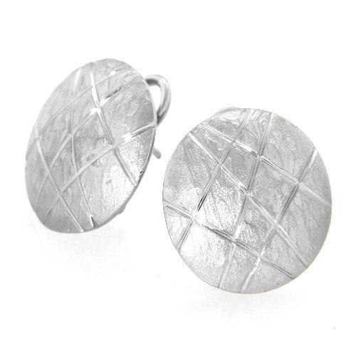 Ohrstecker Silber 925 rhodiniert (Clipstecker)