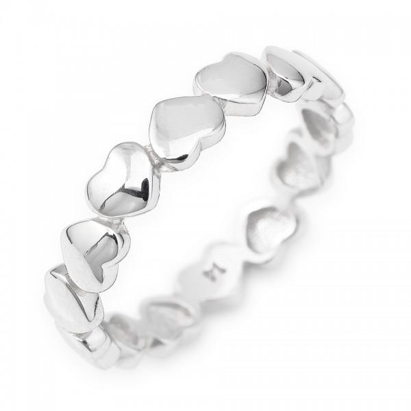 AMEN Ring Silber Herz Gr. 58 RHH-18