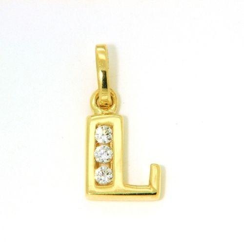 Buchstaben-Anhänger L Gold 333