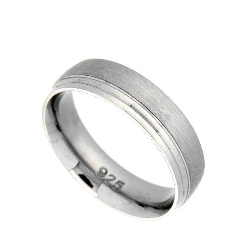 Freundschaftsring Silber 925 rhodiniert Breite 5,5 mm Weite 66