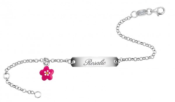 SCOUT Armband silber, rosa Blumen 260242100