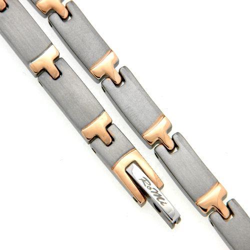 Armband Titan bicolor IP rosé 19 cm