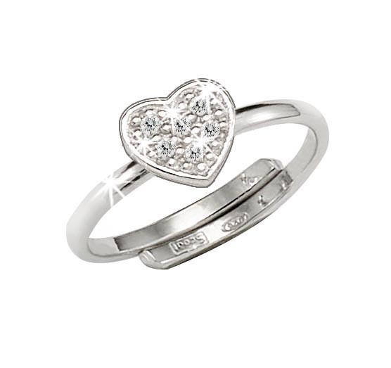 SCOUT Ring mit Zirkonia Herz 263013100