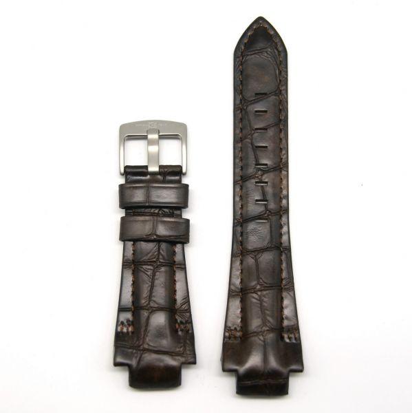 Original Ersatzarmband OFFICINA DEL TEMPO BAO2820290034 für OT1029 Leder braun