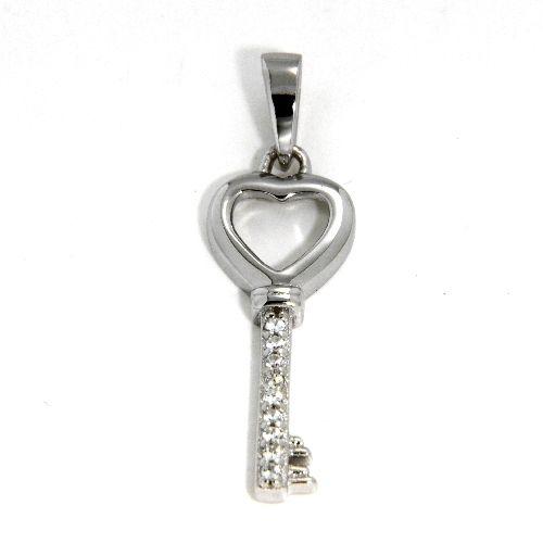 Anhänger Silber 925 rhodiniert Schlüssel