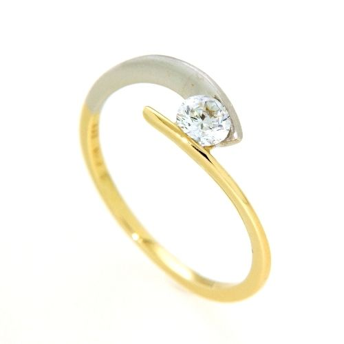 Ring Gold 333 bicolor Weite 57