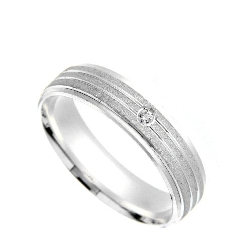 Freundschaftsring Silber 925 Zirkonia Breite 5 mm Weite 69