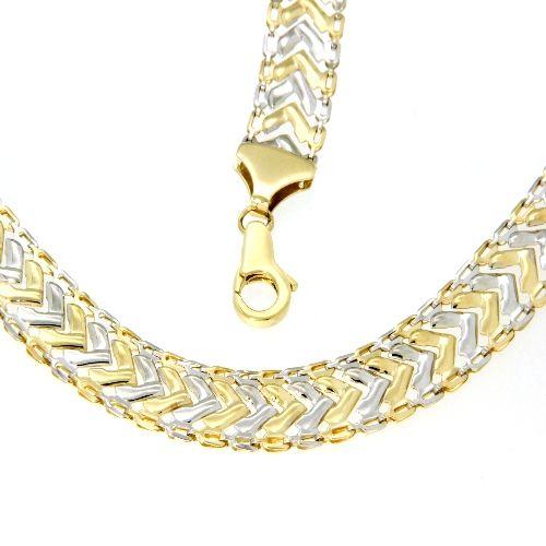 Collier Gold 333 bicolor 45 cm