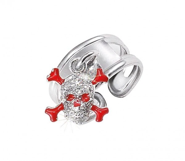 SCOUT Ring silber, rot old school 263010100