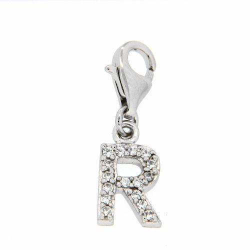 Buchstaben-Charm R Silber 925 rhodiniert