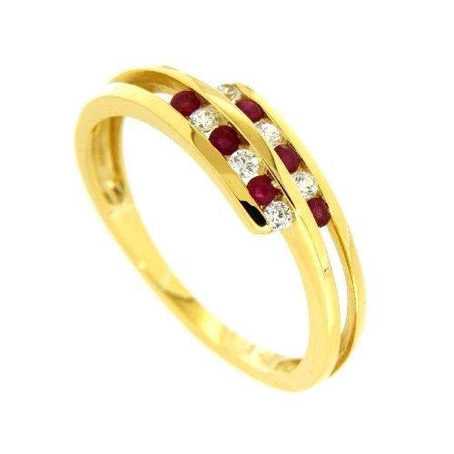 Ring Gold 333 Zirkonia Rubin Weite 54
