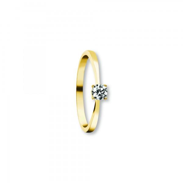 Ring Zirkonia 333 Gelbgold Größe 57