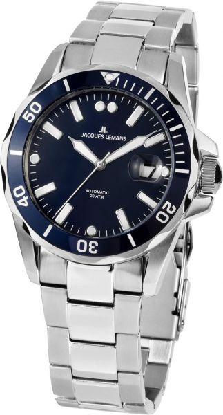 Jacques Lemans Herren-Armbanduhr Liverpool Diver Automatik 1-2089G