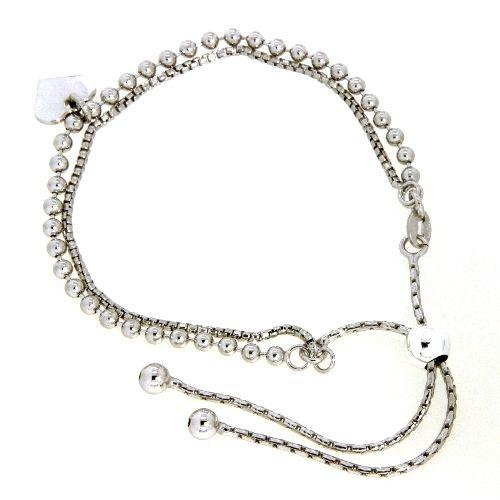 Armband Silber 925 rhodiniert 25 cm verstellbar