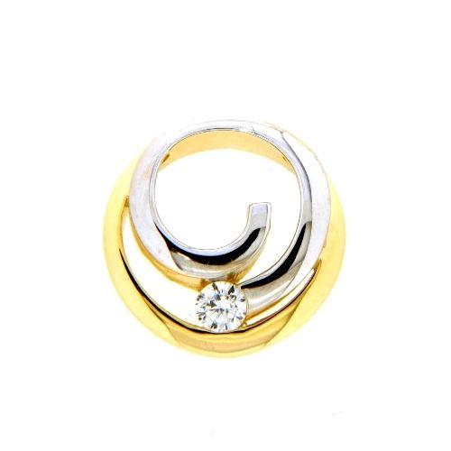 Anhänger Gold 333 Zirkonia bicolor