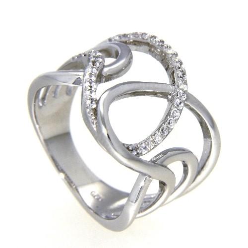Ring Silber 925 rhodiniert Weite 62