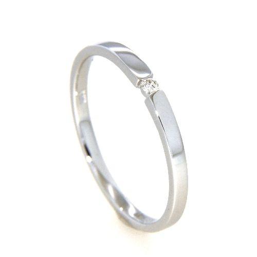 Ring Weißgold 585 Brillant 0,03 ct. Weite 50