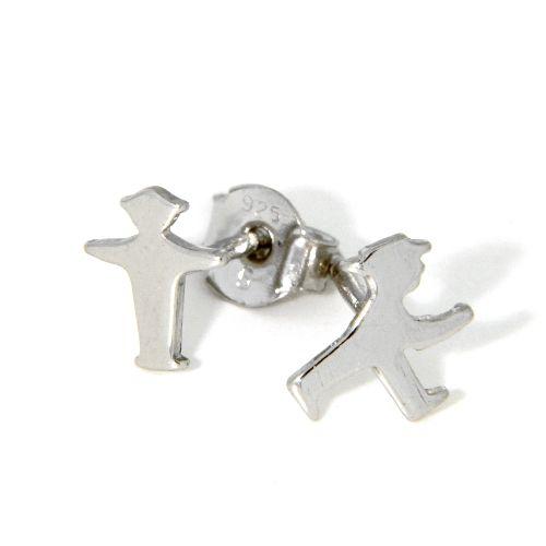 Ohrstecker Silber 925 rhodiniert Ampelmännchen
