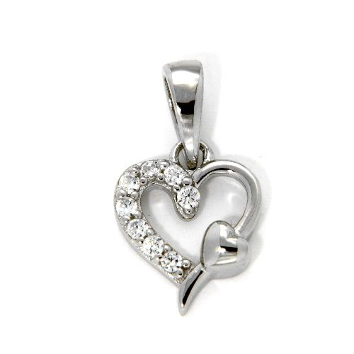 Herzanhänger Silber 925 rhodiniert