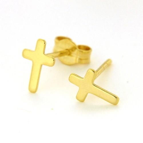 Ohrstecker Gold 333 Kreuz