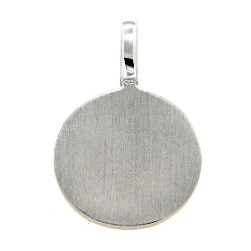 Gravurplatte Silber 925 rhodiniert 11mm