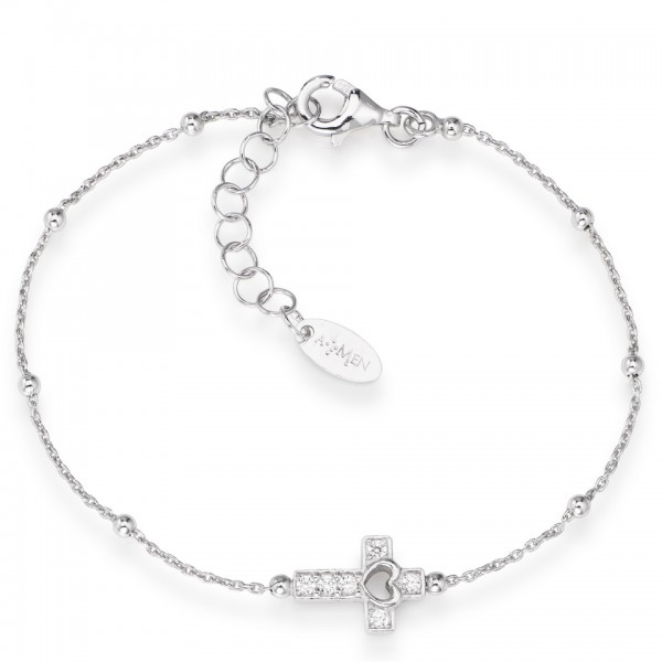 AMEN Armband 16 + 3 cm Silber BRCRB