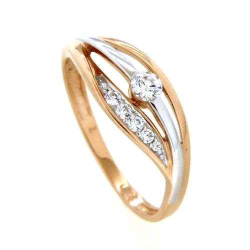 Ring Rotgold 333 Weite 58 Zirkonia