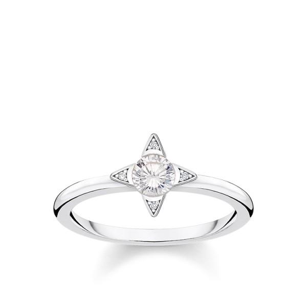 Thomas Sabo Ring weiße Steine Größe 48 TR2268-051-14-48