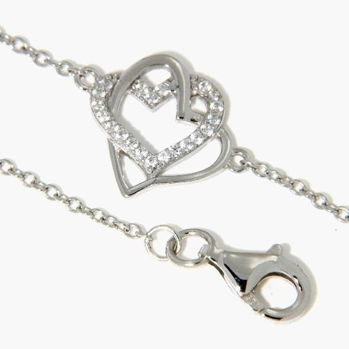 Armband Silber 925 rhodiniert 17 cm + 2 cm