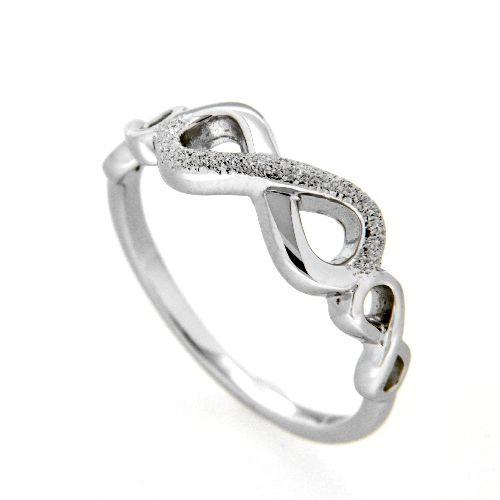 Ring Silber 925 rhodiniert unendlich Weite 56