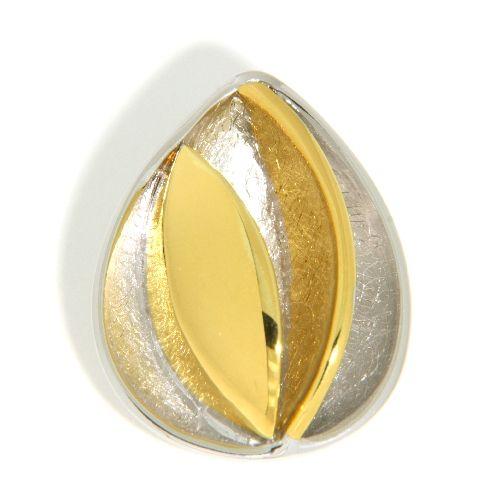 Anhänger Silber 925 rhodiniert bicolor
