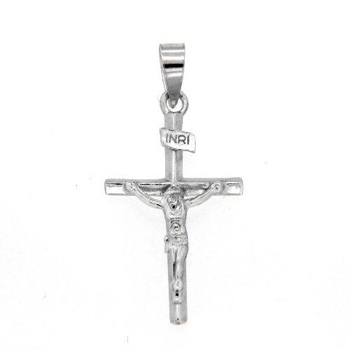 Kreuzanhänger Silber 925 rhodiniert mit Korpus