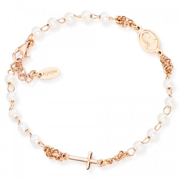 AMEN Armband Silber Rosenkranz BRORB3