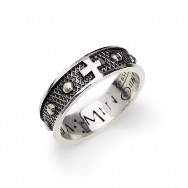 AMEN Ring Silber Kreuz Gr. 58 ACR2-18